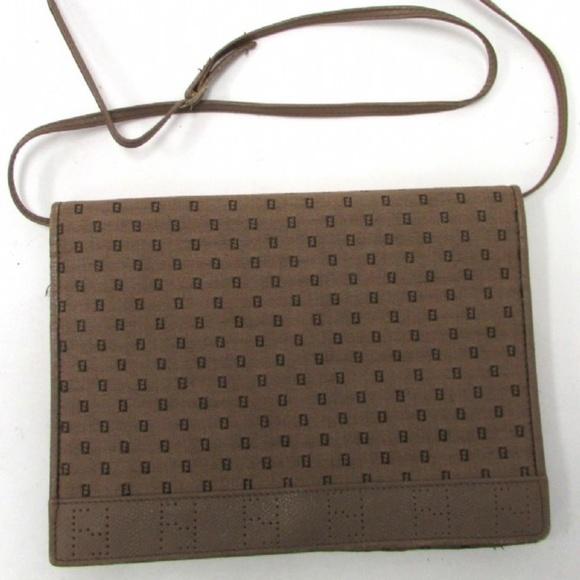 Fendi Handbags - Authentic Fendi Light Brown Canvas Shoulder Bag